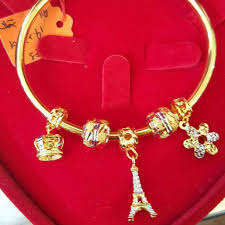 bracelet luxury charms images Gold 916 pandora bracelet charms luxury on carousell jpg