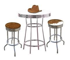 bar stool table set of 2 genuine cowhide hair on the hide 2 western 29 chrome swivel seat