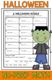 halloween math packet no prep halloween activities halloween