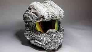 swarovski sede gamelib o capacete de halo 25 mil cristais swarovski