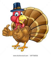 thanksgiving turkey bird giving stock vector