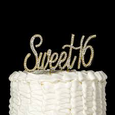 amazon com sweet 16 cake topper crystal rhinestone 16th birthday