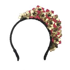flower headdress and leather flower headdress by hermione harbutt
