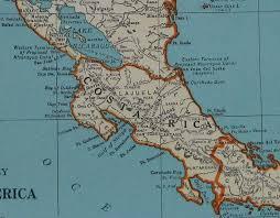 america map guatemala 1939 antique central america map 1930s costa rica map guatemala