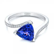 tanzanite engagement ring tanzanite wedding rings custom trillion tanzanite engagement ring
