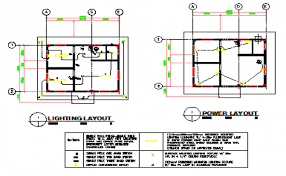 lighting layout design and power layout design drawing of small hospital design drawing