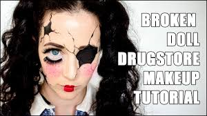 broken doll easy halloween drugstore makeup tutorial youtube