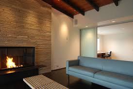 mid century modern wood paneling home