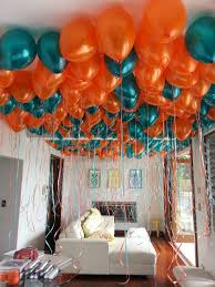 balloons delivered to your door balloons in metallic teal and orange a lovely coverage
