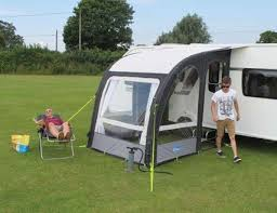 Porch Awnings Kampa Rally Air Pro 200 Series 2 Inflatable Caravan Porch Awning