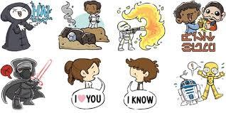releases free star wars sticker emoji rakyat