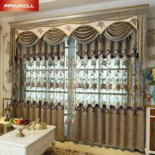 Gorgeous Curtains And Draperies Decor Beautiful Flowers Tulle Luxury Embroidered Valance Decoration