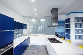 Blue Tile Backsplash Kitchen by Design Magnificent Blue Modern Solid Kitchen Cabinet Mosaic Tile