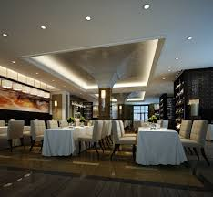 3d model modern restaurant with white chairs cgtrader