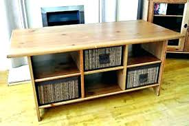 coffee table with baskets under coffee table with baskets wire basket table under coffee table