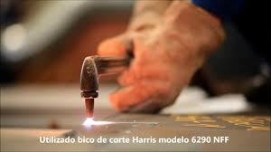 aplicação com maçarico de corte manual modelo 980 harris youtube