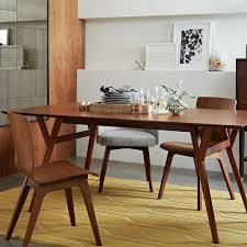 All Wood Dining Room Sets by Mid Century Expandable Dining Table West Elm