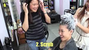 singapore neighbourhood hair salon wash u0026 blow for 12 youtube