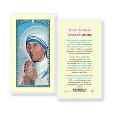 prayer card teresa of calcutta prayer card the catholic company