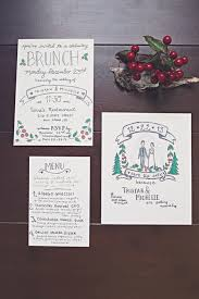 wedding reception program sle arbor winter wine bar wedding