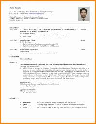 exle of a simple resume resume sle sle simple resume for students www