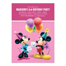 minnie mouse invitations u0026 announcements zazzle