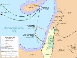 Blank Map Of Israel And Palestine by Gaza Flotilla Raid Wikipedia