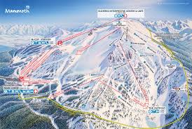 map of mammoth mountain ski area trail map official site