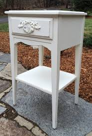 nightstand amusing pair vintage shabby chic nightstand s end by