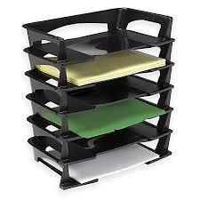 Desk Trays Walmart Brenton Studio Stacking Desk Trays 2 12 H X 15 14 W X 8 34 D Black