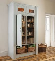 Kitchen Freestanding Pantry Cabinets Superb Freestanding Larder Cupboard Built In Pantry In