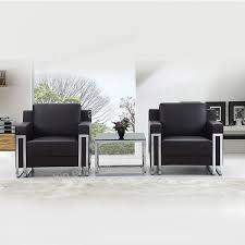 Stainless Steel Frame Pu Leather Office Sofa Set Buy Sofa Set - Steel sofa designs