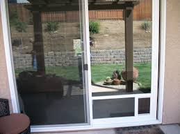 Patio Door With Pet Door Built In Stunning Patio Sliding Glass With Built In Blinds For Door Pet