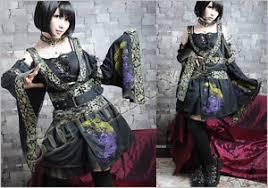 gothic chinese sacred beast 5pc dragon kimono dress fa126 purple