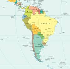 Blank South American Map by South America Political Map Political Map Of South America