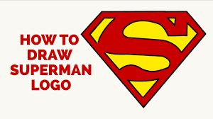 how to draw a superman logo in a few easy steps drawing tutorial