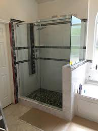 frameless 1 of 2 waterslide frameless shower enclosure with a