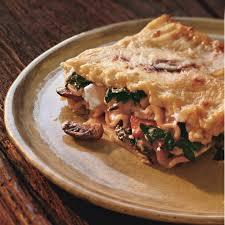 swiss chard lasagna with ricotta and mushroom recipe epicurious com
