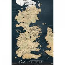 World Map Poster Large Maps U0026 Posters Game Of Thrones Official Hbo Store