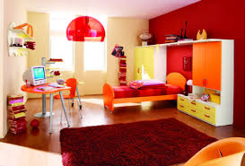 Modern Red Rug by Girls Bedroom Engaging Red Modern Bedroom Decoration Using