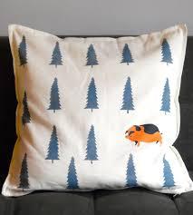 hand printed pig forest pillow home decor u0026 lighting sosie