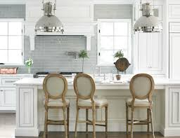 white glass tile backsplash kitchen blue subway tile backsplash transitional kitchen hton design