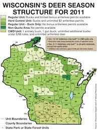 Wisconsin Counties Map by 2017 Wisconsin Deer Forecast Game U0026 Fish