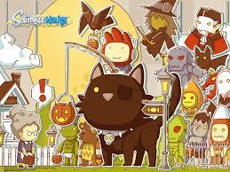 halloween themed wallpaper scribblenauts halloween wallpapers pixlbit
