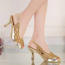 wedding shoes gold color aliexpress buy summer 3inches wedge heel sandals peep toe
