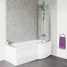shaped 1675 right hand shower bath front panel and 6mm hinged