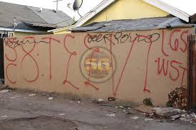 Los Angeles Gangs Map Territory by Various 18th Street Neighborhoods Throughout Los Angeles County