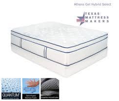 athens gel hybrid mattress micro pocketed coils texas mattress