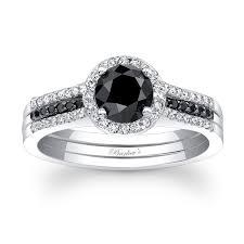 black gold wedding sets barkev s black diamond bridal set bc 7875sbk barkev s