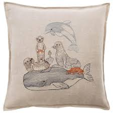 Dolphin Home Decor Coral And Tusk Embroidered Table Decor And Home Goods